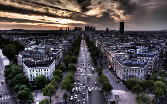 париж, парижа, european, франция, город,