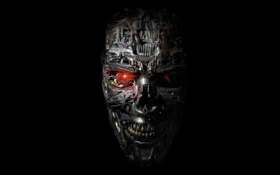 терминатор, robot, genesis, лицо, глаза,