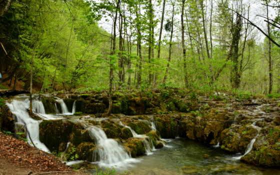 водопад, cool, природа, плитвицкие, pictures, озера, фон, изображение,