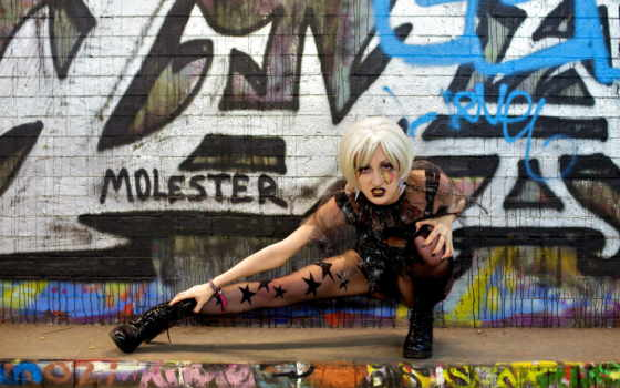 graffiti, обою, devushki, чтобы, blondinka, посмотрет, истинном, стена, размере, desktop, стена,