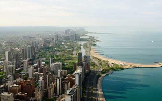 город, neighborhood, chicago, побережье,