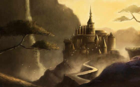 fantasy, castle, стиле