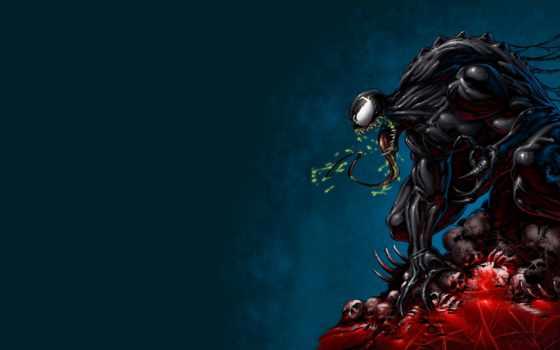 venom, fantasy, картинка, marvel, monster, мужчина, паук, comics, язык,