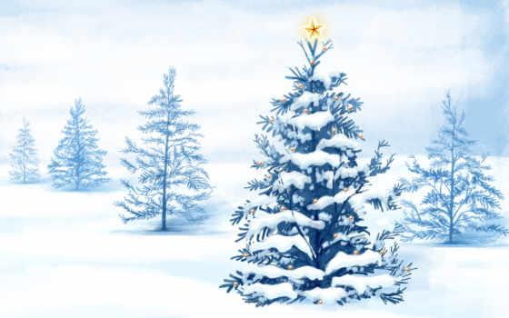 елка, новогодняя, год