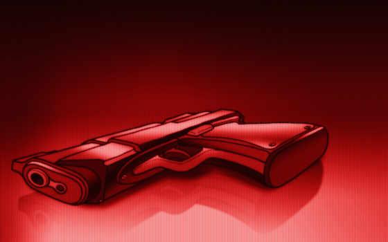 пистолет, рисунок, shot, оружие, red,