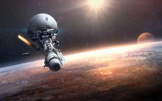 станция, космос, orbital, орбита, фантастика, planet,