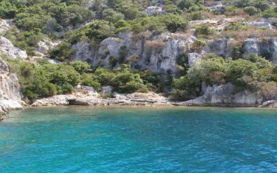 скалистое, морское, побережье, дикое, choose, монитор, тематика, природа, летние,