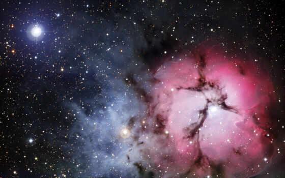 туманность, ngc, взрыв, газ, разноцветный, путешествие, глаз, большое, кошачий, туманности, космос, хаббл, trifid, орла, звездный, шпиль,