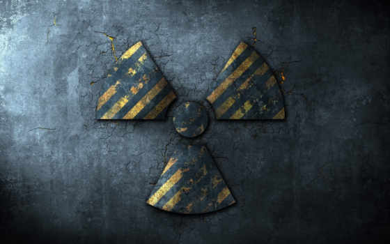 знак, радиоактивный, радиация, асфальт, трещины, опасность, полоски,