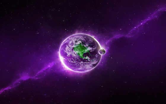land, космос, луна
