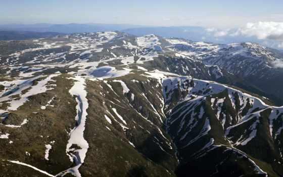небо, highly, австралии, горы, австралия, oblaka, голубое, самые, mountains, snowy,