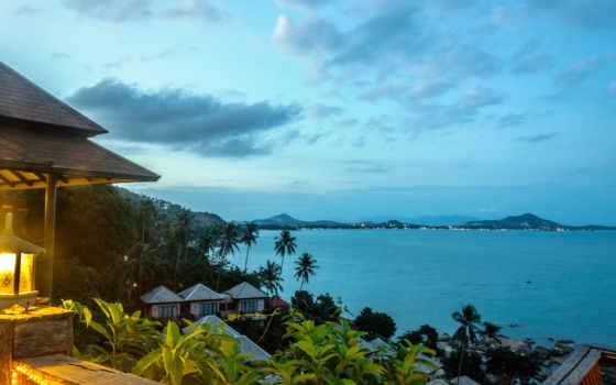 самуи, koh, таиланд, пляж, остров, villa, об, ко,