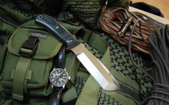нож, часы камуфляж