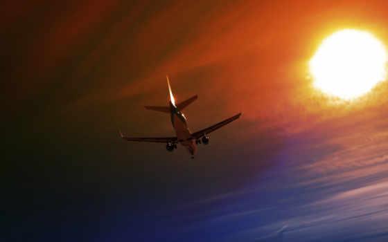 plane, небо, ночь
