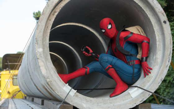 мужчина, паук, домой, return, homecoming, фильма, jon,