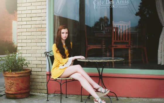 кафе, девушка, коллекция, stage, sit, модель, улица, card, столик, заставка, фотосессия