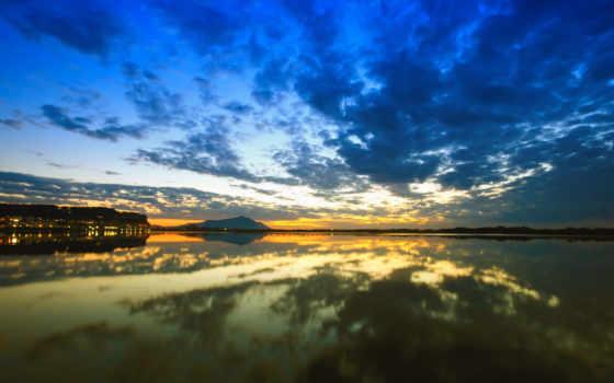 озеро, landscape, water, природа, деревя, art, девушка, зелёный, отражение,