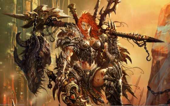 diablo, iii, barbarian, игры,