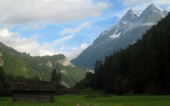 горы, lodge, oblaka Фон № 134718 разрешение 1920x1080