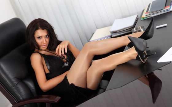 колготках, boss, секретарь, women, чулках, женщина, офисе, online,