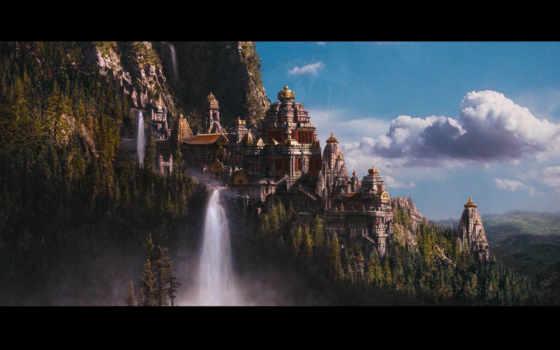 fantasy, castle, art