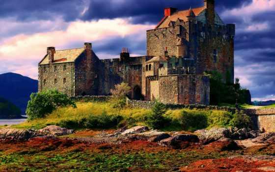 шотландия, castle, осень