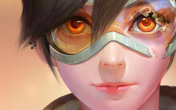 overwatch, game, point, tracer, пирсинг, oxton, lena
