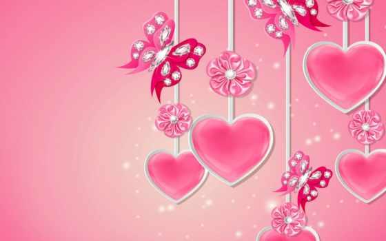 сердечки, день, валентина