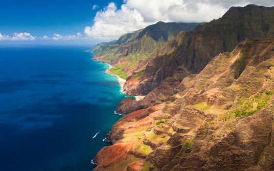 ocean, hawaii, oblaka