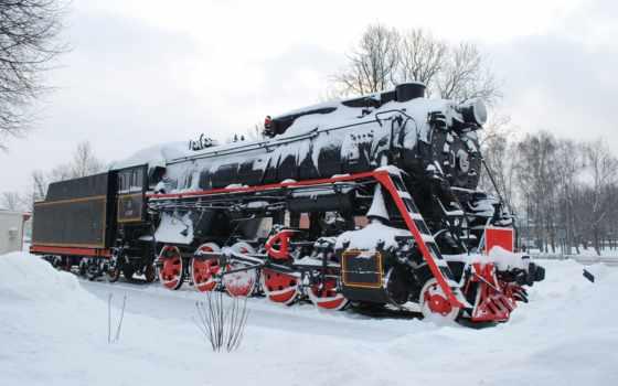 поезд, снег, winter, локомотив, full, free, iphone, android,