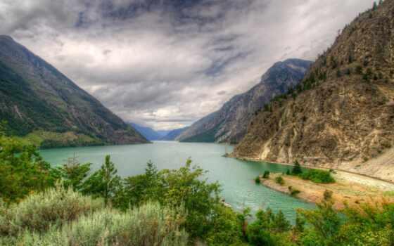 озеро, гора, природа, landscape, seton, канада, lillooet, previe