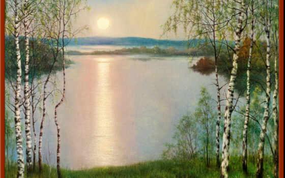 landscape, cherry, natural, watercolour, взгляд, pencil