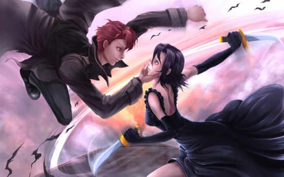 baccano, knives, anime, девушка, битва, парень, оружие, world, prime, красивых, подборка,