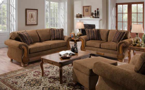 muebles, sala, para