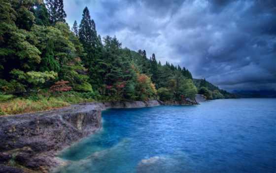 природа, лес, моря, природы, берегу, море, осень, телефон, небо, звуки,