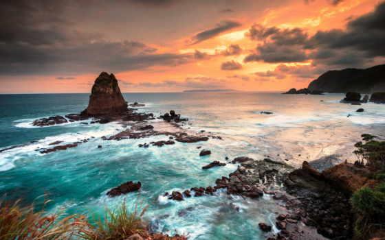 indonesia, природа, пляж, небо, май, содержать, остров, изображение, more,