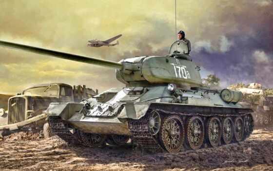 танк, war, world, soviet, thunder, модель, von, medium