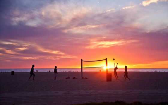 пляж, los, california