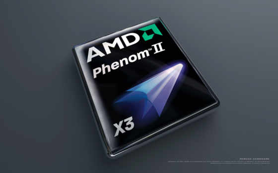 amd phenom II x3 объёмного лого