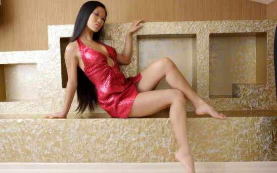mariko, платье, sexy, asian, legs, модель,