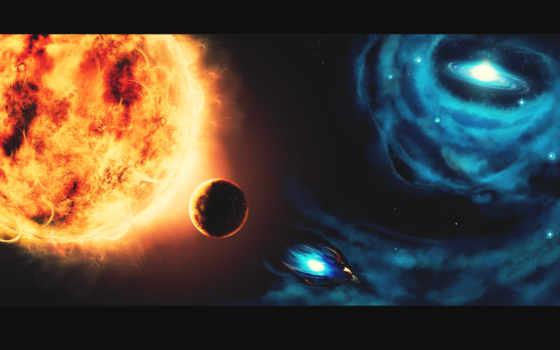 cosmos, космос, sun, planet, photoshop, часть, магия, рисунок,