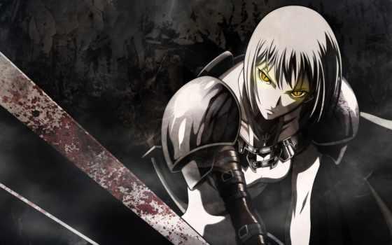 anime, воин, меч