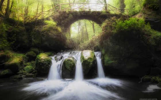 лес, luxembourg, this, fairytale, природа, landscape, фея, muellerthal, водопад, мост,