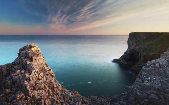 море, скалы, берегу