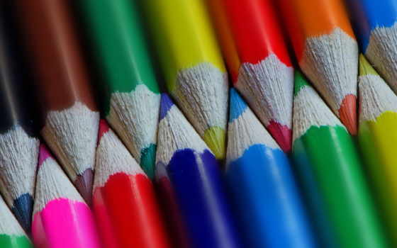 pencils, ecran, crayons, colourful, desktop, радуга, coloured,