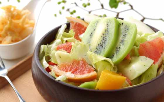 ягоды, фруктовый салат, фрукты, десерт
