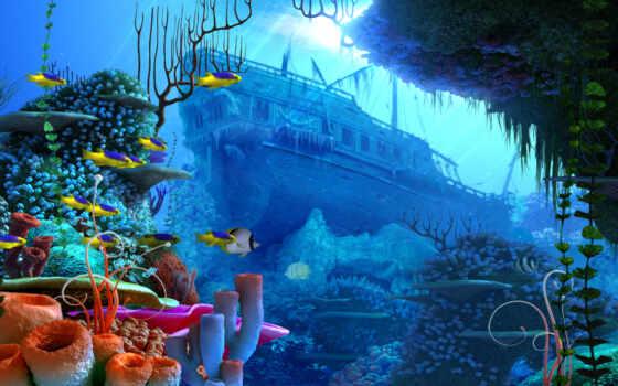 море, fish, live, coral, system, opcionalno, intel, экран, marine, print