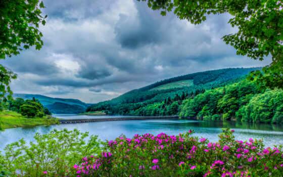 род, день, postcard, district, peak, national, park, derbyshire, choose, долина, ladybower
