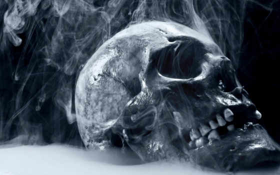 смерть, skull, smoking