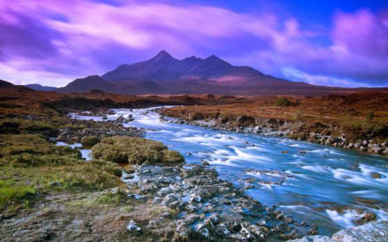 река, горная, ipad